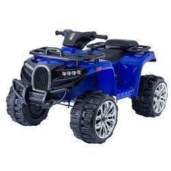 Elektrisches Mitfahr-Quad ALLROAD 12V, Blau, riesige weiche EVA-Räder, 2 x 12V, Motor, LED-Leuchten, MP3-Player mit USB, 12V7Ah-Akku