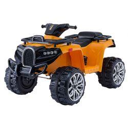 Elektrisches Mitfahr-Quad ALLROAD 12V, Orange, riesige weiche EVA-Räder, 2 x 12V, Motor, LED-Leuchten, MP3-Player mit USB, 12V7Ah-Akku