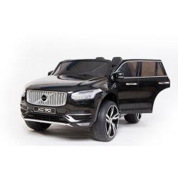 Elektro-Aufsitz-Volvo XC90, schwarz, doppelter Ledersitz, MP3-Player mit Bluetooth- und USB-Eingang, zu öffnende Türen und Motorhaube, 12-V-10-Ah-Batterie, EVA-Räder, gefederte Achsen, 2,4-GHz-Fernbedienung, Lizenziert