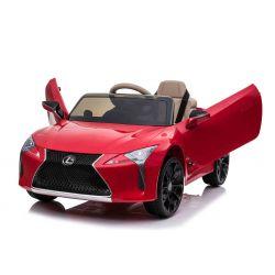 Elektroauto für Kinder Lexus LC500, Rot, original lizenziert, 12V batteriebetrieben, vertikal öffnende Türen, 2x Motor, 2,4 GHz Fernbedienung, Federung, Laufruhe