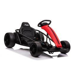 Driftkart DRIFT-CAR 24V, rot, glatte Drifträder, 2 x 350W Motor, Driftmodus bei 18 km / h, 24V Batterie, solide Konstruktion