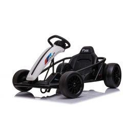 Driftkart DRIFT-CAR 24V, Weiss, glatte Drifträder, 2 x 350W Motor, Driftmodus bei 18 km / h, 24V Batterie, solide Konstruktion