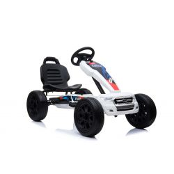 FORD Gokart - Pedal Car with idle run, white, Eva wheels, ORGINAL license