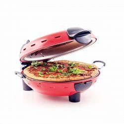 Richard Bergendi Stonebake Pizza Oven, Pizzasteinofen mit Fenster, Pizzabäcker, Rot