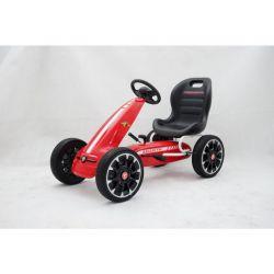 ABARTH Go Kart - Pedal Car mit Leerlauf, Rot, Eva-Rädern, ORIGINAL-Lizenz