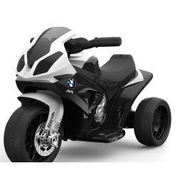Kinderfahrzeug BMW S 1000 RR Elektrisches Dreirad für Kinder, Batteriebetriebenes Motorrad, 3 Räder, lizenziert, 1x Motor, 6V Batterie, Schwarz