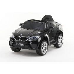Elektroauto BMW X6M NEU - Einzelsitz, schwarz lackiert, original lizenziert, batteriebetrieben, Türen zu öffnen, Ledersitz, 2x Motor, 12 V Batterie, 2,4 GHz Fernbedienung, weiche EVA-Räder, sanfter Start
