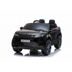 Elektroauto für Kinder Range Rover EVOQUE, Schwarz, doppelter Ledersitz, MP3-Player mit USB-Eingang, 4x4-Antrieb, 12V10Ah-Batterie, EVA-Räder, Aufhängungsachsen, Schlüsselstart, 2,4-GHz-Bluetooth-Fernbedienung, lizenziert
