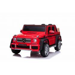 Elektroauto für Kinder Mercedes G650 MAYBACH, Rot, Originallizenz, 12 V batteriebetrieben, Türen öffnen, 2 x 25 W Motor, 2,4 GHz Fernbedienung, weiche EVA-Räder, Federung, Sanftanlauf, MP3-Player mit USB / SD-Eingang