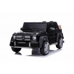 Elektroauto für Kinder Mercedes G650 MAYBACH, Schwarz, Originallizenz, 12 V batteriebetrieben, Türen öffnen, 2 x 25 W Motor, 2,4 GHz Fernbedienung, weiche EVA-Räder, Federung, Sanftanlauf, MP3-Player mit USB / SD-Eingang
