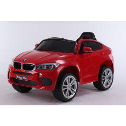 Elektrofahrzeug BMW X6M NEU - Einzelsitz, Rot, Originallizenz, Batteriebetrieben, Türen öffnen, Ledersitz, 2x Motor, 12-V-Batterie, 2,4-GHz-Fernbedienung, weiche EVA-Räder, sanfter Start