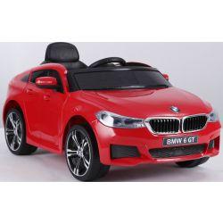 Elektrische Fahrt mit dem Auto BMW 6GT - Einzelsitz, Rot, original lizenziert, batteriebetrieben, öffnende Türen, 2x Motor, Batterie 2x 6V / 4 Ah, 2,4-GHz-Fernbedienung, weicher Start