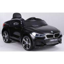 Elektroauto für Kinder Elektrische Fahrt mit dem Auto BMW 6GT - Einzelsitz, schwarz, original lizenziert, batteriebetrieben, öffnende Türen, 2x Motor, Batterie 2x 6V / 4 Ah, 2,4-GHz-Fernbedienung, weicher Start