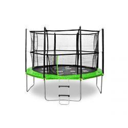 Jumpspirit Premium Gartentrampolin 12ft (366 cm) mit Sicherheitsnetz