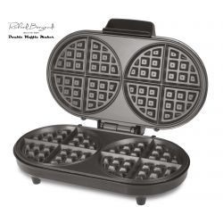 Richard Bergendi Double Belgian Waffle Maker, Waffle Iron, 1200 W, Non Stick Plates, Variable Temperature Control