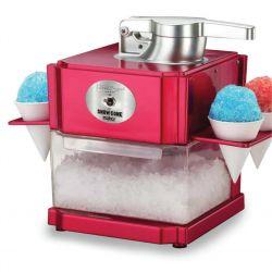 Richard Bergendi Appliances Snowcone / Slushie Maker, Geraspeltes Eis, Eiscrusher, Shaved Ice Maker mit 4 Eisbechern und Servierhalter